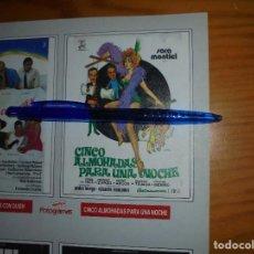 Coleccionismo de Revista Cambio 16: RECORTE PRENSA :SARA MONTIEL, PUBLICIDAD PELICULA: 5 ALMOHADAS PARA UNA NOCHE. CAMBIO 16, MARZO 1992. Lote 125212823