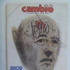 Coleccionismo de Revista Cambio 16: CAMBIO ´16 : LA MUERTE . JUICIO HISTORICO AL GENERAL FRANCO , NOVIEMBRE 1985. INCLUYE DISCO. Lote 130728924