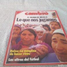 Coleccionismo de Revista Cambio 16: REVISTA CAMBIO 16, N° 794 , EL DRAMA DE MELILLA, FEBRERO 1987.. Lote 131902651