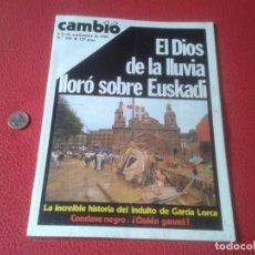 Coleccionismo de Revista Cambio 16: REVISTA CAMBIO 16 Nº 614 SEPT. 1983 INUNDACIONES EN EUSKADI PAIS VASCO, BILBAO, PAPA,..MAGAZINE VER. Lote 132453378