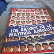 Coleccionismo de Revista Cambio 16: CAMBIO 16 EL PSOE EN LOS 200 DIPUTADOS JUNIO 1986 PEPETO. Lote 132590398