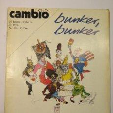 Coleccionismo de Revista Cambio 16: BUNKER BUNKER ENERO-FEBRERO 1976 Nº 216. Lote 134210186