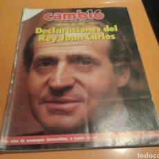 Coleccionismo de Revista Cambio 16: REVISTA CAMBIO 16, DECLARACIONES DEL REY JUAN CARLOS, N°736, ENERO 1986.. Lote 134890999
