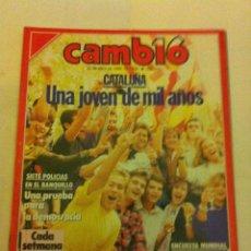 Coleccionismo de Revista Cambio 16: CAMBIO 16 - Nº. 856 - AÑO 1988 - CATALUÑA, UA JOVEN DE MIL AÑOS. Lote 135654611