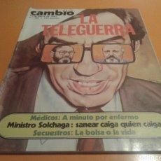 Coleccionismo de Revista Cambio 16: REVISTA CAMBIO 16, LA TELEGUERRA, N ° 582 ENERO 1983. Lote 136788593