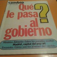 Coleccionismo de Revista Cambio 16: REVISTA CAMBIO 16, QUE LE PASA AL GOBIERNO, N ° 583 , ENERO 1983. Lote 136789141