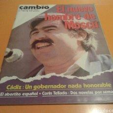 Coleccionismo de Revista Cambio 16: REVISTA CAMBIO 16, FIDEL ALONSO, EL NUEVO HOMBRE DE MOSCU. N ° 584, FEBRERO 1983. Lote 136789933