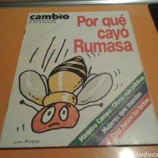 Coleccionismo de Revista Cambio 16: REVISTA CAMBIO 16, PORQUE CAYÓ RUMASA. N ° 587, FEBRERO 1983. Lote 136793937