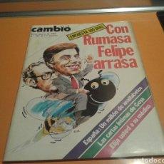 Coleccionismo de Revista Cambio 16: REVISTA CAMBIO 16, CON RUMASA FELIPE ARRASA, N ° 589, MARZO 1983. Lote 136795490