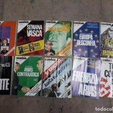 Coleccionismo de Revista Cambio 16: LOTE 10 REVISTAS CAMBIO 16 AÑOS 1975 Y 1976. Lote 137151006
