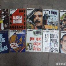 Coleccionismo de Revista Cambio 16: LOTE 10 REVISTAS CAMBIO 16 AÑOS 1975 Y 1976. Lote 137151046