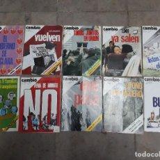 Coleccionismo de Revista Cambio 16: LOTE 10 REVISTAS CAMBIO 16 AÑOS 1975 Y 1976. Lote 137151114