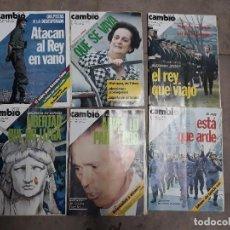 Coleccionismo de Revista Cambio 16: LOTE 6 REVISTAS CAMBIO 16 AÑOS 1975 Y 1976. Lote 137151194