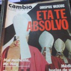 Coleccionismo de Revista Cambio 16: REVISTA CAMBIO 16 Nº 489 13 DE ABRIL 1981. Lote 140580846