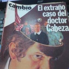 Coleccionismo de Revista Cambio 16: REVISTA CAMBIO 16 Nº 490 2 DE ABRIL 1981. Lote 140581338