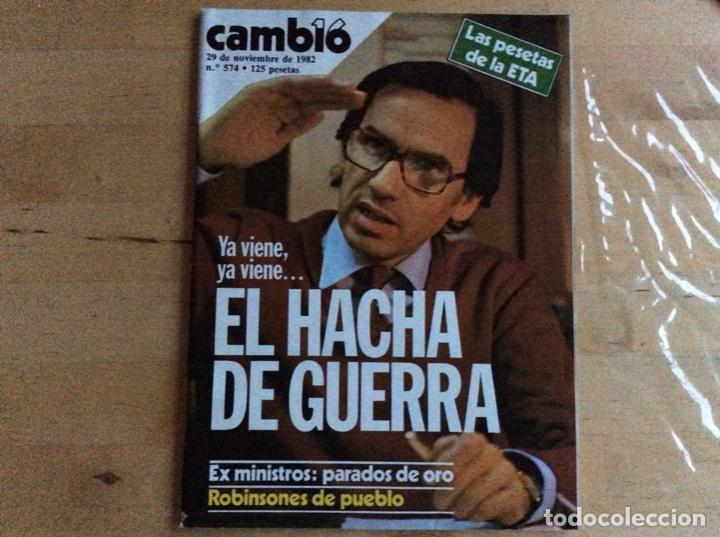 ALFONSO GUERRA CAMBIO16 .NUMERO 574.AÑO 1982 (Coleccionismo - Revistas y Periódicos Modernos (a partir de 1.940) - Revista Cambio 16)