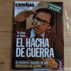 Coleccionismo de Revista Cambio 16: ALFONSO GUERRA CAMBIO16 .NUMERO 574.AÑO 1982. Lote 140763906