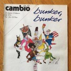 Coleccionismo de Revista Cambio 16: REVISTA CAMBIO 16, 26 ENERO 1 FEBRERO NUMERO 216. Lote 142307266