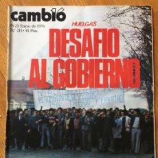 Coleccionismo de Revista Cambio 16: REVISTA CAMBIO 16, 19-25 FEBRERO 1976, NUMERO 215. Lote 142307398