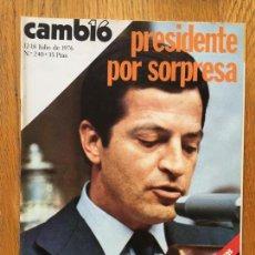 Coleccionismo de Revista Cambio 16: REVISTA CAMBIO 16, 12-18 JULIO 1976 NUMERO 240. Lote 142314518