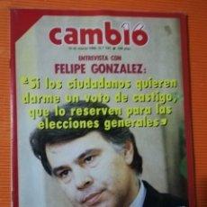 Coleccionismo de Revista Cambio 16: REVISTA CAMB16. Nº 745. ENTREVISTA CON FELIPE GONZÁLEZ. 10 MARZO 1986. Lote 142353510