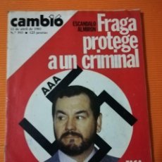 Collectionnisme de Magazine Cambio 16: REVISTA CAMB16. Nº 593. FRAGA PROTEGE A UN CRIMINAL, ESCÁNDALO ALMIRÓN. 11 ABRIL 1983. Lote 142353790