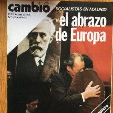 Coleccionismo de Revista Cambio 16: REVISTA CAMBIO 16, 19 DICIEMBRE DE 1976, NUMERO 262. Lote 142361930