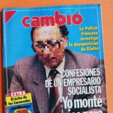Coleccionismo de Revista Cambio 16: REVISTA CAMB16. Nº 954. CONFESIONES DE UN EMPRESARIO SOCIALISTA: MONTÉ NEGOCIOS PARA EL PSOE. 1990. Lote 142566754