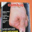 Coleccionismo de Revista Cambio 16: REVISTA CAMB16. Nº 757. APLASTADOS POR LOS IMPUESTOS / ESPECIAL MUNDIAL MÉXICO 86. Lote 142567442