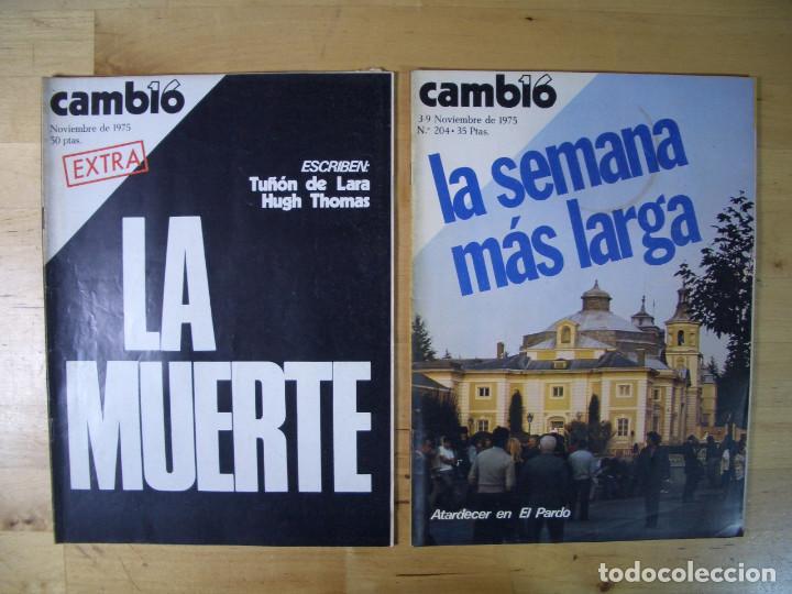 REVISTA CAMBIO 16 - LOTE 7 REVISTAS - NOVIEMBRE DICIEMBRE 1975 - TRANSICIÓN (Coleccionismo - Revistas y Periódicos Modernos (a partir de 1.940) - Revista Cambio 16)