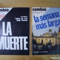 Coleccionismo de Revista Cambio 16: REVISTA CAMBIO 16 - LOTE 7 REVISTAS - NOVIEMBRE DICIEMBRE 1975 - TRANSICIÓN. Lote 143215906