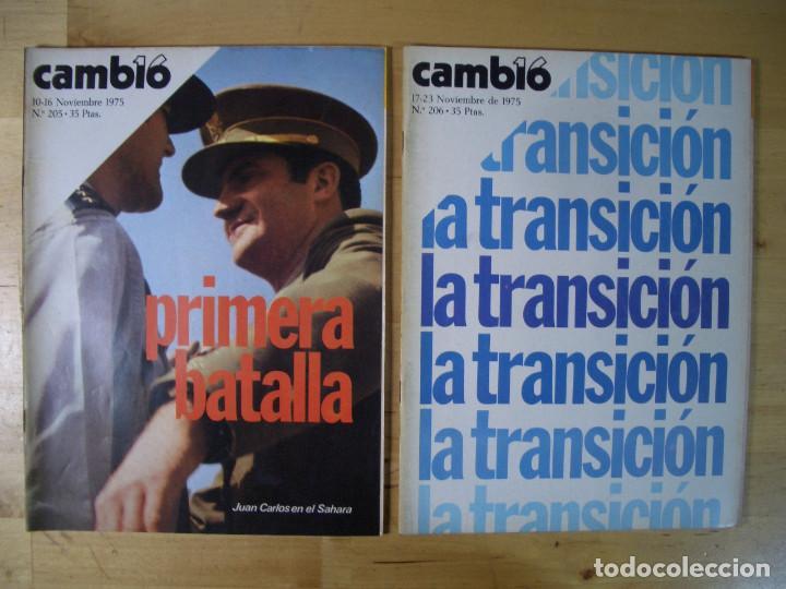 Coleccionismo de Revista Cambio 16: REVISTA CAMBIO 16 - LOTE 7 REVISTAS - Noviembre Diciembre 1975 - TRANSICIÓN - Foto 2 - 143215906