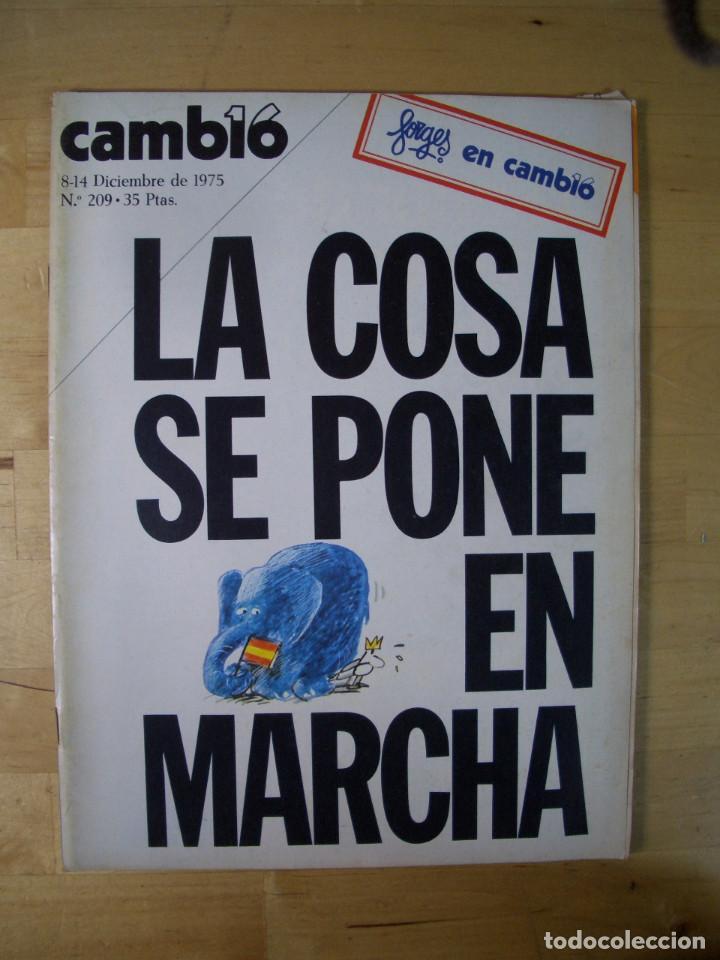 Coleccionismo de Revista Cambio 16: REVISTA CAMBIO 16 - LOTE 7 REVISTAS - Noviembre Diciembre 1975 - TRANSICIÓN - Foto 4 - 143215906