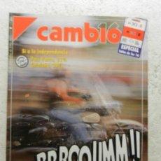 Coleccionismo de Revista Cambio 16: CAMBIO 16 REVISTA Nº 1035 - SEPTIEMBRE 1991 - CONFESIONES DE UN NARCOTRAFICANTE GALLEGO. Lote 143336802