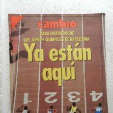 Coleccionismo de Revista Cambio 16: CAMBIO 16 REVISTA Nº 1078 - JULIO 1992 - JUEGOS OLIMPICOS DE BARCELONA . Lote 143337522