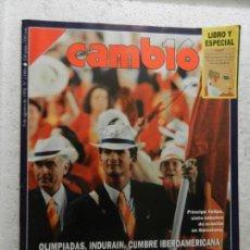 Coleccionismo de Revista Cambio 16: CAMBIO 16 REVISTA Nº 1080 - AGOSTO 1992 - PRINCIPE FELIPE, SIETE MINUTOS DE OVACIÓN . Lote 143337858