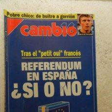 Coleccionismo de Revista Cambio 16: CAMBIO 16 REVISTA Nº 1088 - SEPTIEMBRE 1992 - LOS ESPAÑOLES PIDEN REFERENDUM. Lote 143338462