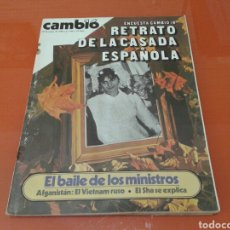 Coleccionismo de Revista Cambio 16: REVISTA CAMBIO 16, EL RETRATO DE LA CASADA ESPAÑOLA , N° 424 ENERO DE 1980. Lote 143390452