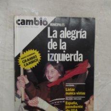 Coleccionismo de Revista Cambio 16: REVISTA CAMBIO 16 - MUNICIPALES LA ALEGRIA DE LA IZQUIERDA Nº 384 / 15 DE ABRIL DE 1979. Lote 143445598