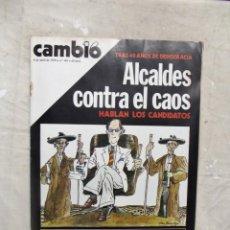 Coleccionismo de Revista Cambio 16: REVISTA CAMBIO 16 - ALCALDES CONTRA EL CAOS Nº 383 / 8 DE ABRIL DE 1979. Lote 143446198