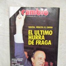 Coleccionismo de Revista Cambio 16: REVISTA CAMBIO 16 - EL ULTIMO HURRA DE FRAGA Nº 731 / 2 DE DICIEMBRE DE 1985 . Lote 143449550