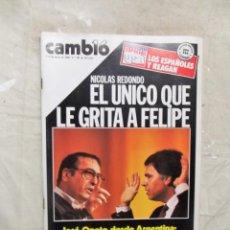 Coleccionismo de Revista Cambio 16: REVISTA CAMBIO 16 - NICOLAS REDONDO EL UNICO QUE LE GRITA A FELIPE Nº 701 / 4 - 11 MAYO DE 1985. Lote 143476902