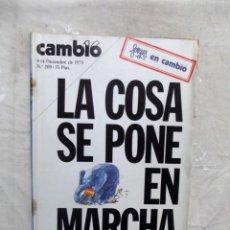 Colecionismo da Revista Cambio 16: REVISTA CAMBIO 16 - LA COSA SE PONE EN MARCHA Nº 209 / 8 - 14 DE DICIEMBRE DE 1975. Lote 143730126