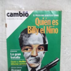 Colecionismo da Revista Cambio 16: REVISTA CAMBIO 16 - QUIEN ES BILLY EL NIÑO EL POLICIA MAS SECRETO Nº 395 / 1 DE JULIO DE 1979. Lote 143736854