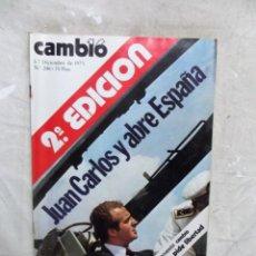 Coleccionismo de Revista Cambio 16: REVISTA CAMBIO 16 - JUAN CARLOS Y ABRE ESPAÑA 2ª EDICION Nº 208 / 1 - 7 DE DICIEMBRE DE 1975. Lote 143743178