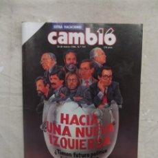 Colecionismo da Revista Cambio 16: REVISTA CAMBIO 16 - HACIA UNA NUEVA IZQUIERDA Nº 747 / 24 DE MARZO DE 1986. Lote 143802706