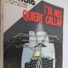 Coleccionismo de Revista Cambio 16: REVISTA CAMBIO 16 Nº 560 - AÑO 1982: ETA NOS QUIERE CALLAR - GUTIERREZ MELLADO - SERRAT. Lote 145126010