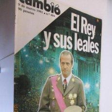 Coleccionismo de Revista Cambio 16: CAMBIO16 - Nº 484 - DE MARZO DE 1981 - EL GOLPE, PASO A PASO . Lote 145126206