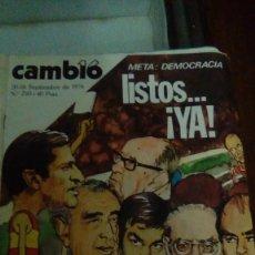Collectionnisme de Magazine Cambio 16: CAMBIO16 Nº 250 SEPTIEMBRE 1976.META: DEMOCRACIA LISTOS....¡YA! EUZKADI ABRASA ASÍ MATARON A ZABALA. Lote 148682382