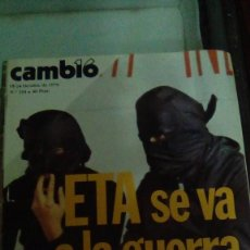 Coleccionismo de Revista Cambio 16: CAMBIO16 Nº 254 OCTUBRE 1976. ETA SE VA A LA GUERRA. CARLOS HUGO NO QUIERE EL TRONO. CAMBIO 16 ..... Lote 148968262